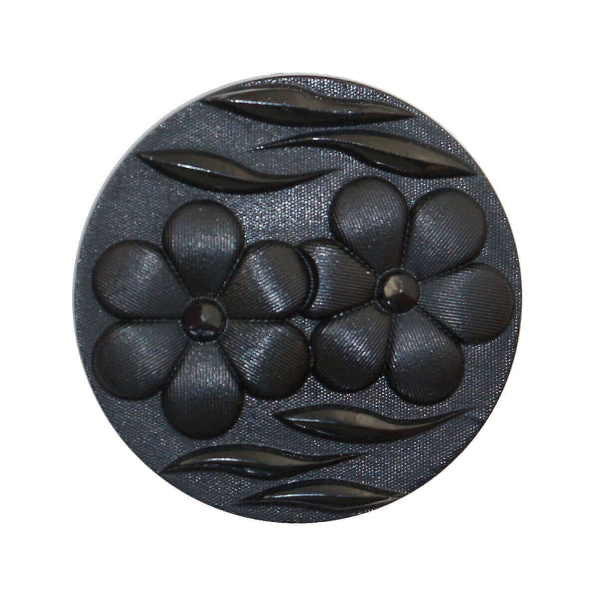black nylon button