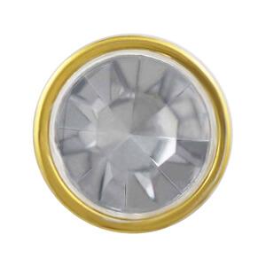 包邊鑽扣-透明滾金邊底座