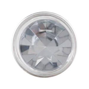 包邊鑽扣-透明滾銀邊底座