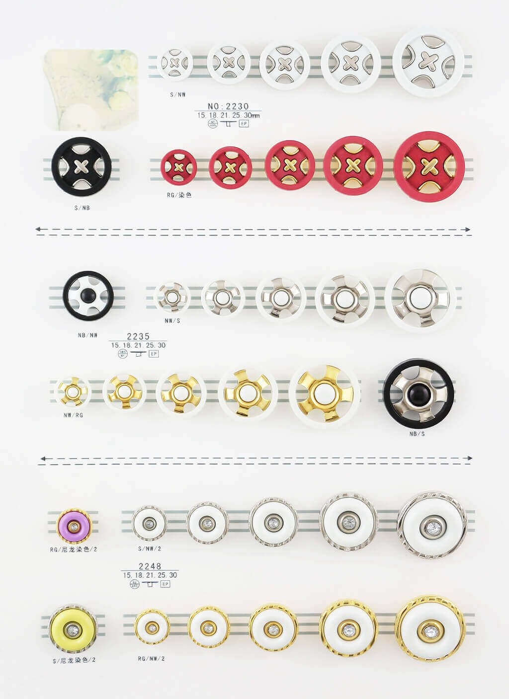 wholesale buttons catalogue, combined buttons catalogue from SUNMEI