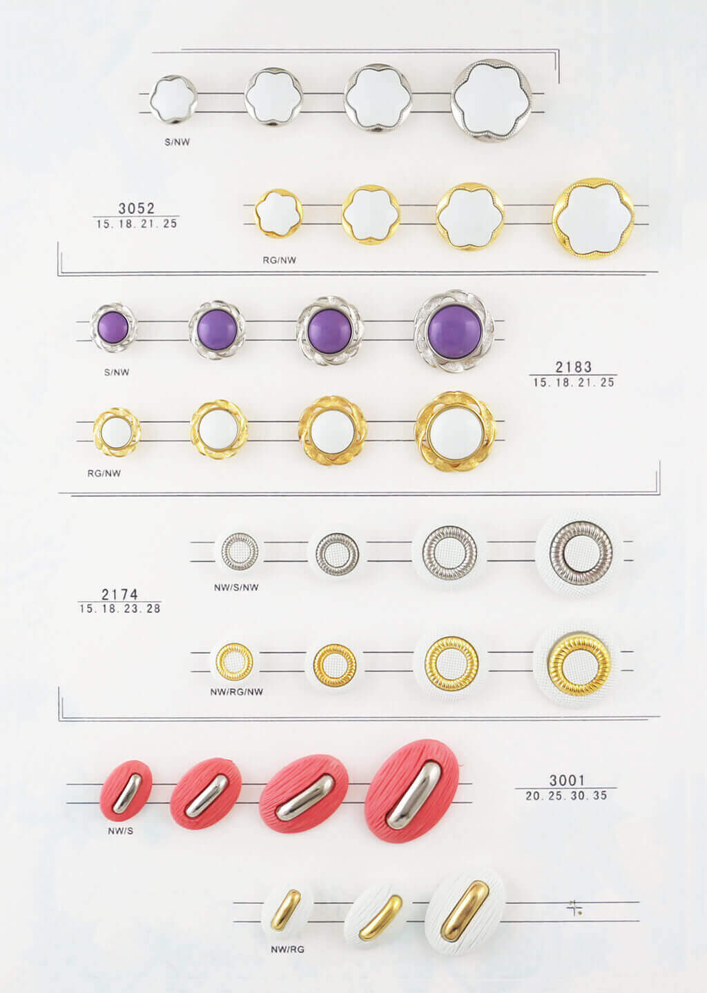 decorative buttons catalogue, combined buttons catalogue from SUNMEI