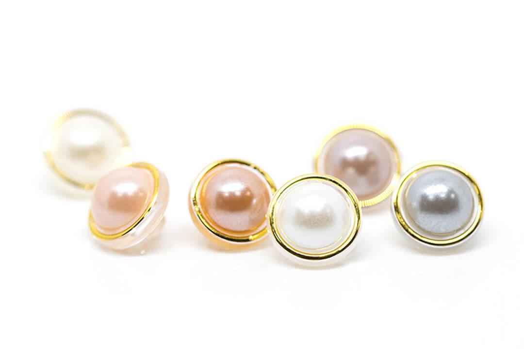 rhinestone button nacre pearl