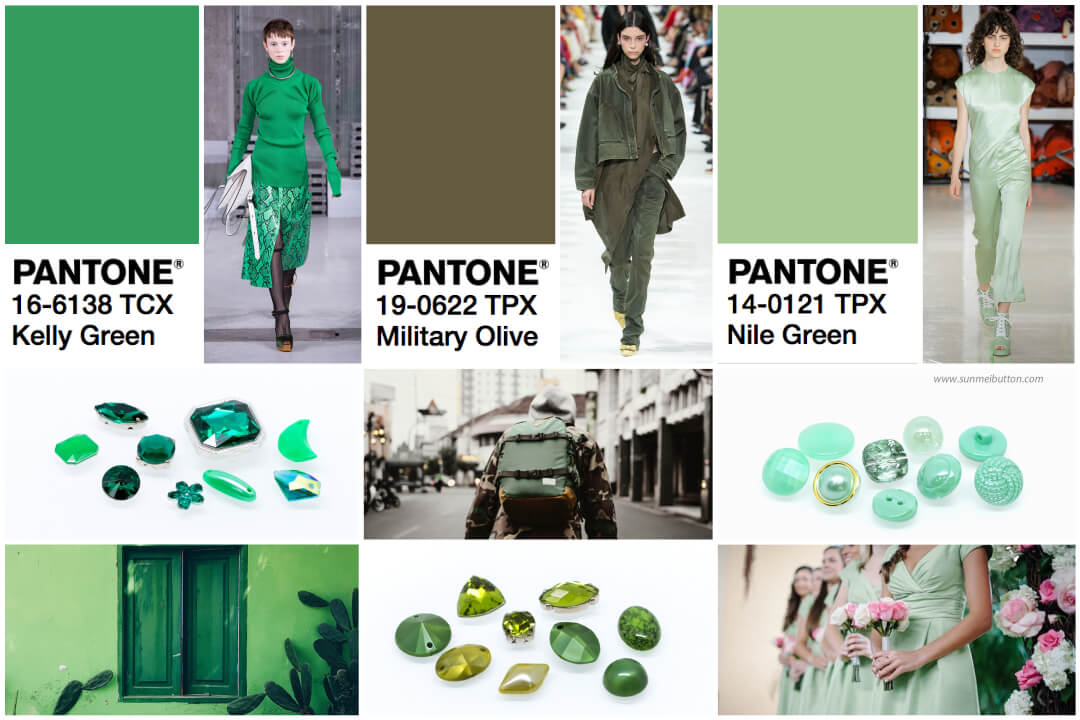 Green Fashion Inspiration: Three Green Color Trends for 2018