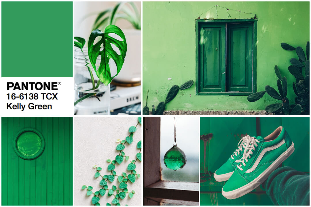 2018 color trend green-kelly green inspiration