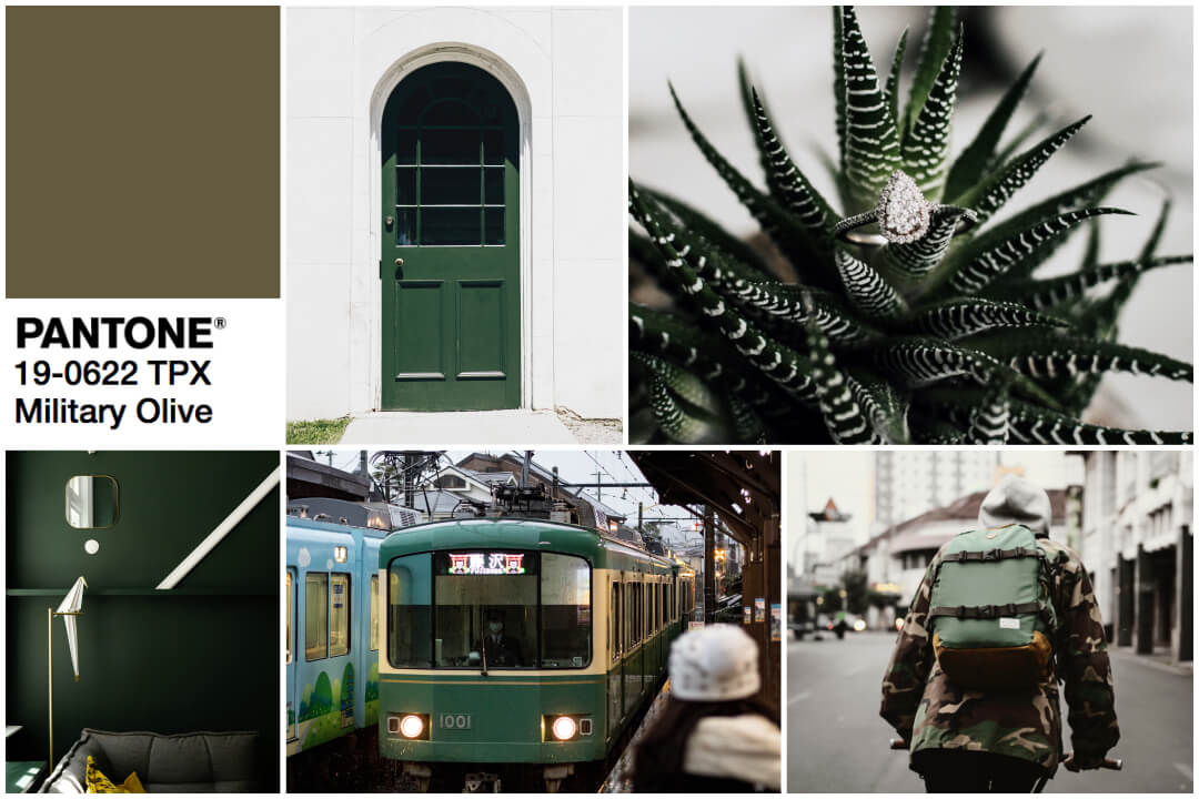 2018 color trend green-military green inspiration