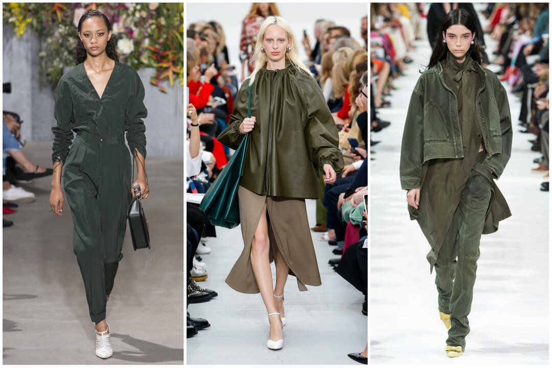 2018 color trend green-military green runway