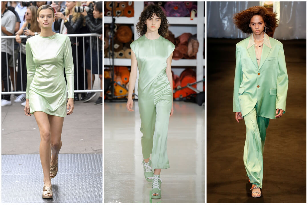 2018 color trend green-nile green runway