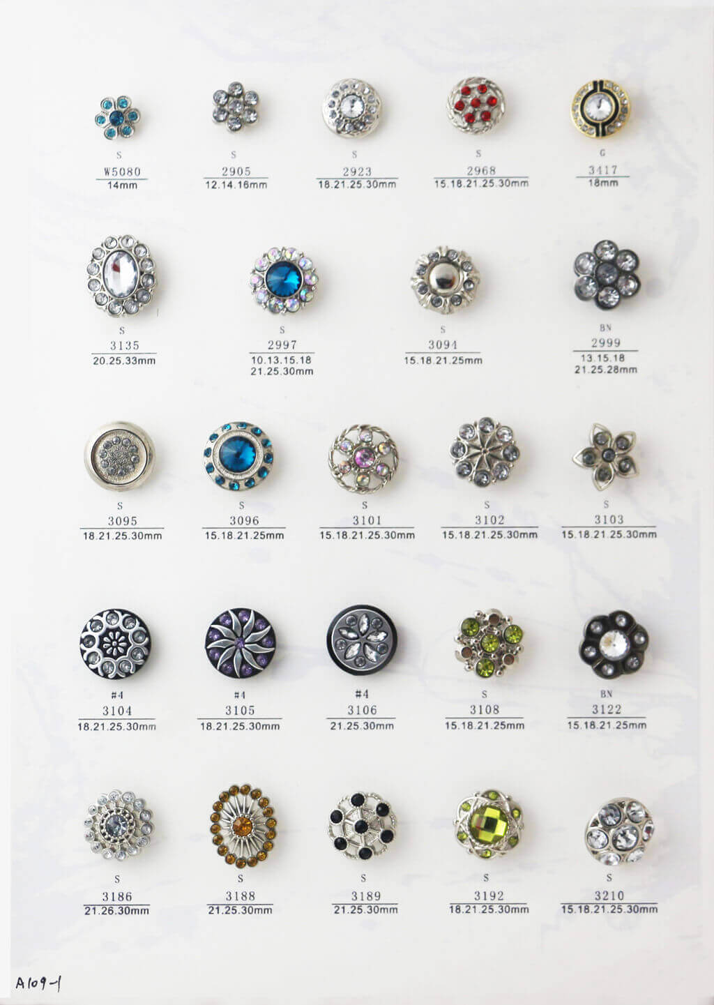 A109-1-bulk-rhinestone-button-catalogue