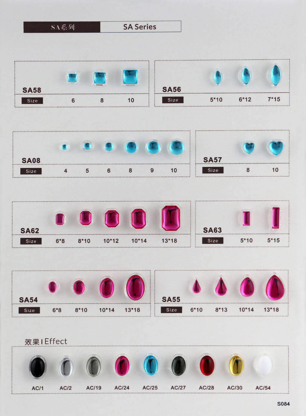 S084-stone in sew on setting catalogue transparent
