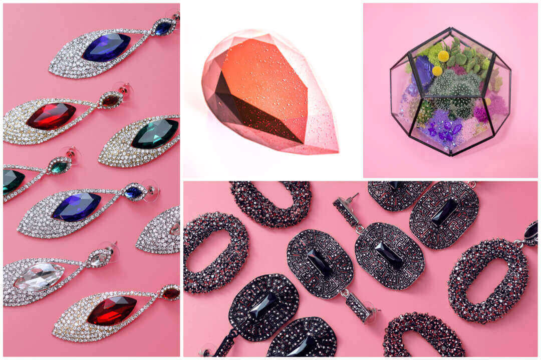 大尺寸塑膠寶石,平底多種形狀適合DIY手工藝