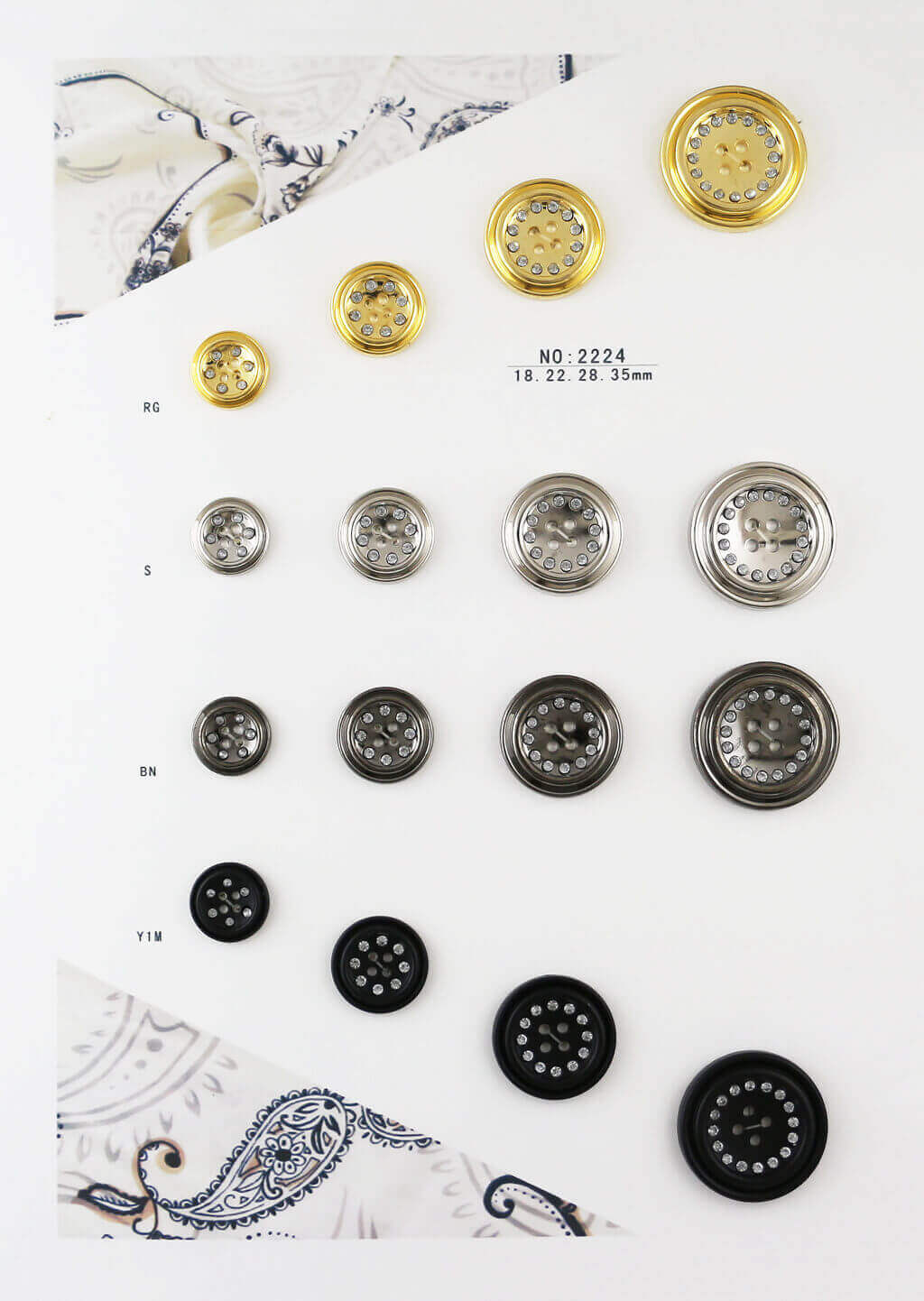 bulk rhinestone buttons catalogue geometric shape