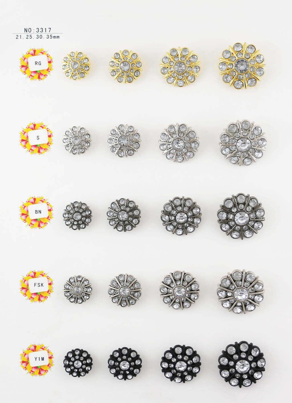 bulk rhinestone buttons, flower shape, special shape buttons