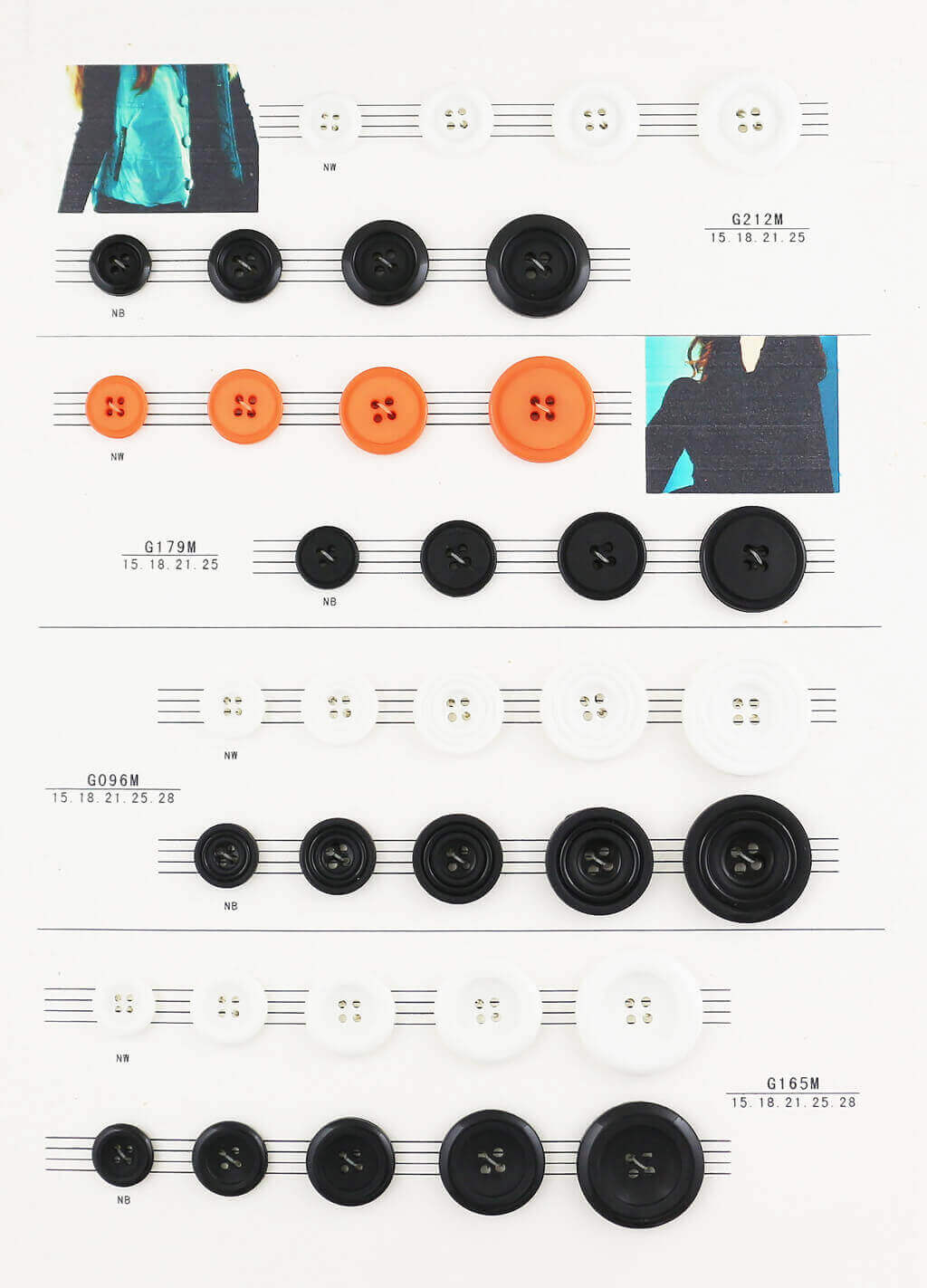 2 holes, 4 holes nylon button catalogue