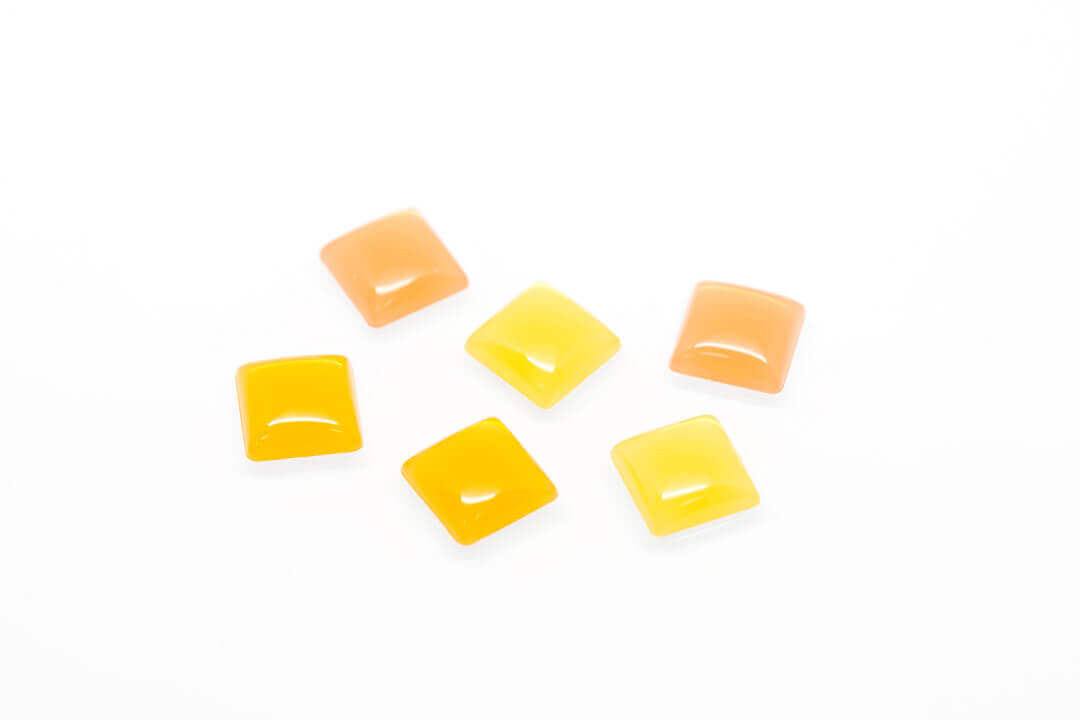 yellow flat back pearl bead-5
