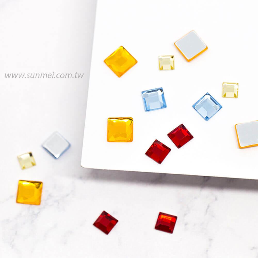 flatback rhinestones square