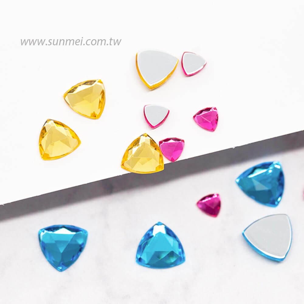 flat rhinestones triangle