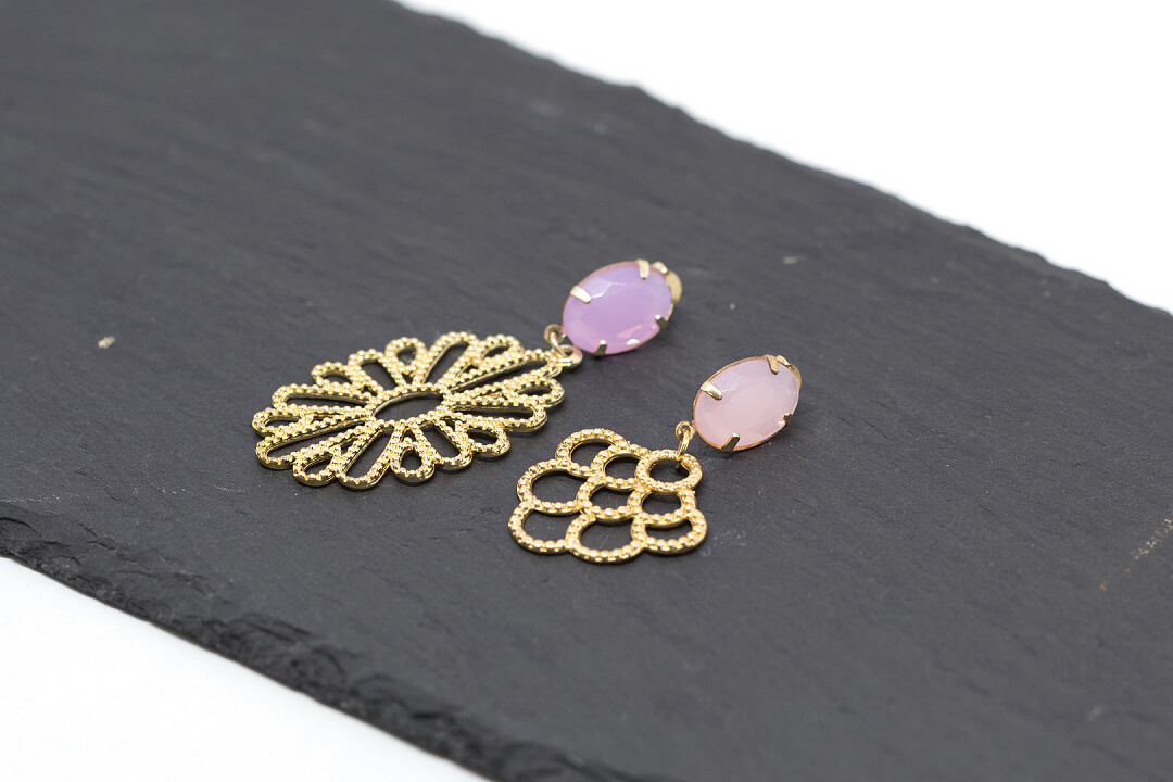 opal and gold rhinestone earrings-2