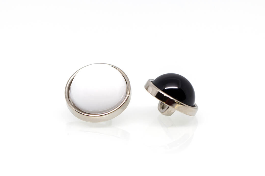 fancy shirt button-black and white button