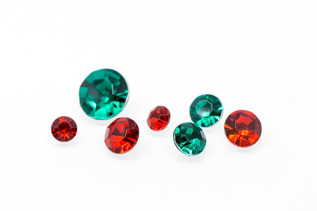green and red rhinestones for jewelry-5