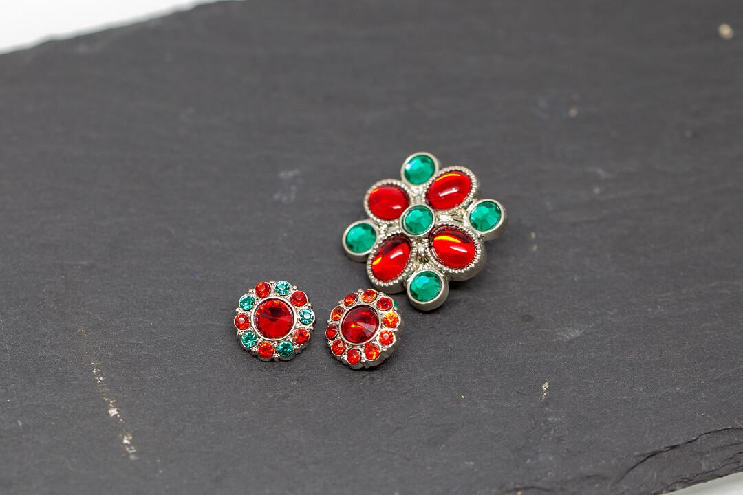 green and red rhinestones jewelry-10