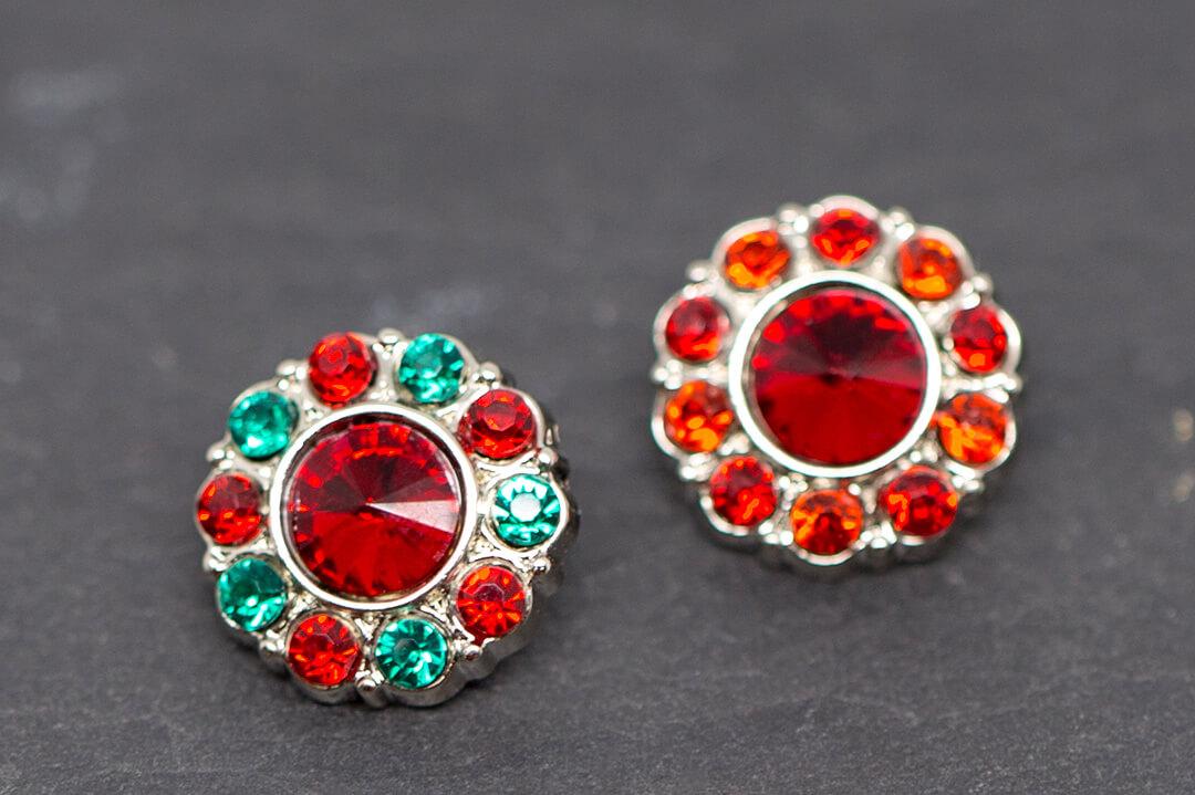 green and red rhinestones jewelry-11