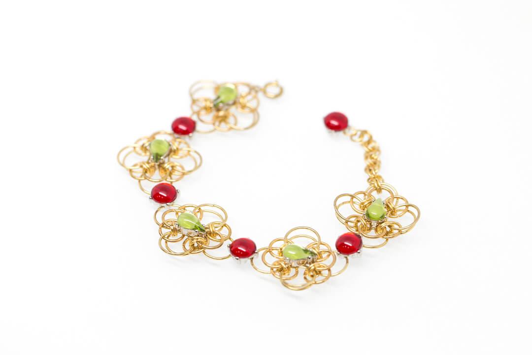 green and red rhinestones jewelry-5