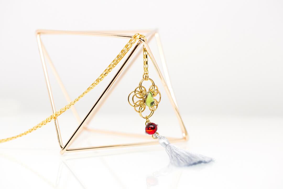 green and red rhinestones jewelry-8