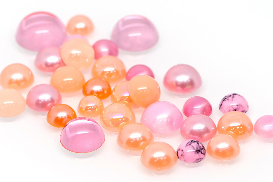 light coral flat beads