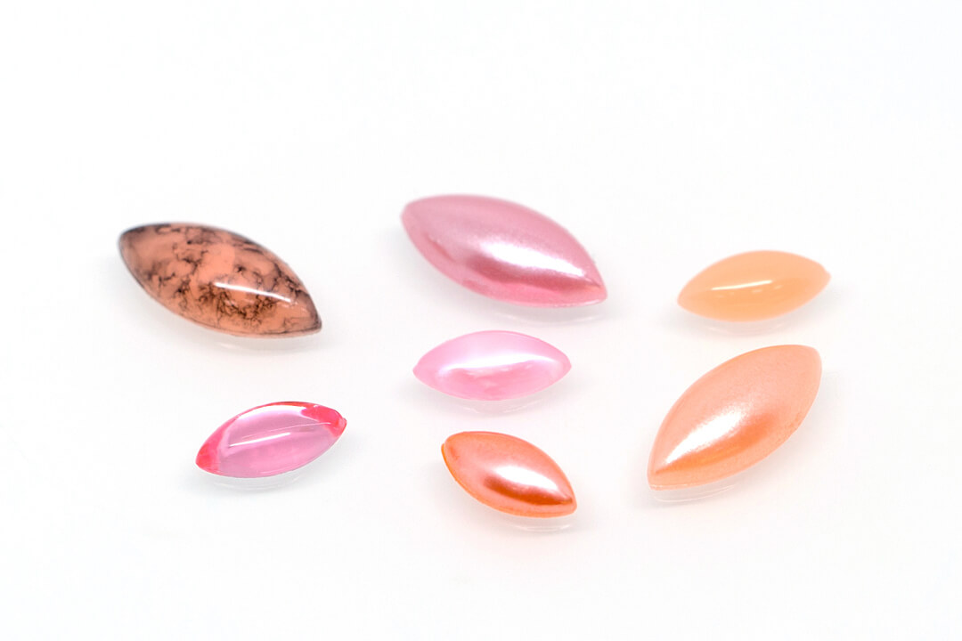 navette light coral color bead