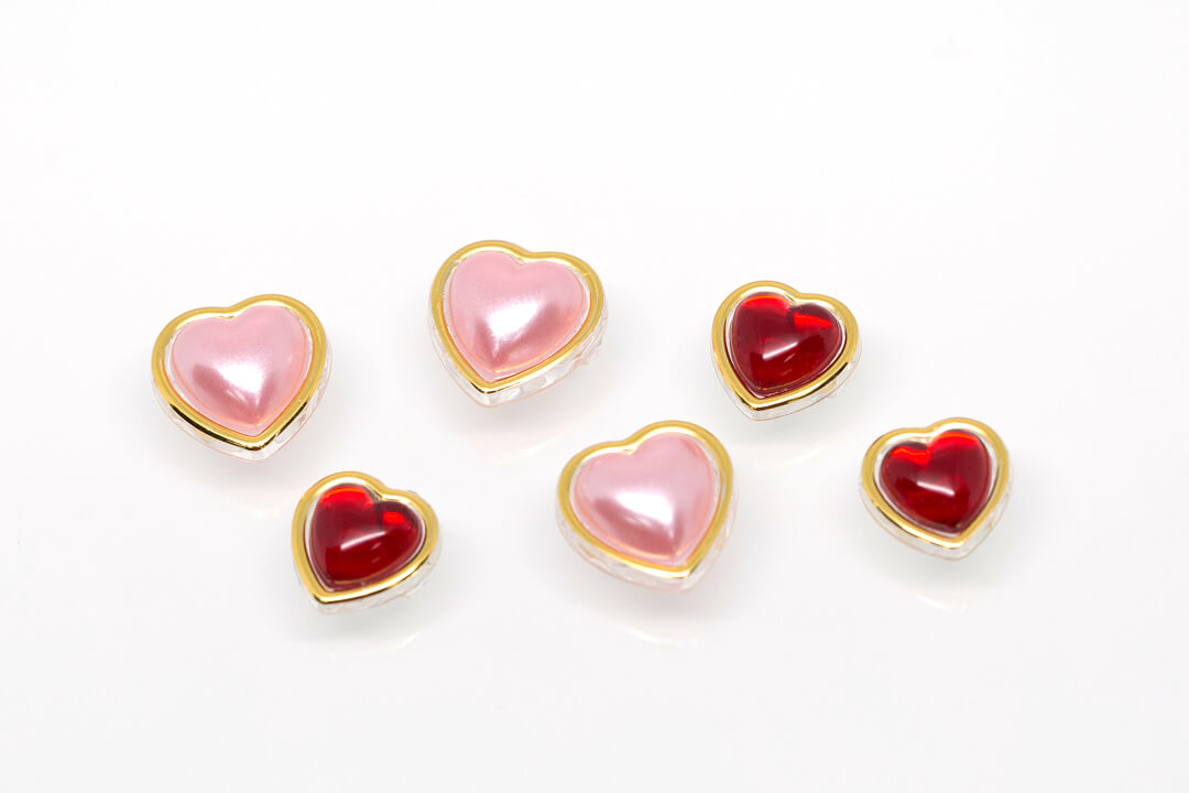 pearl heart buttons