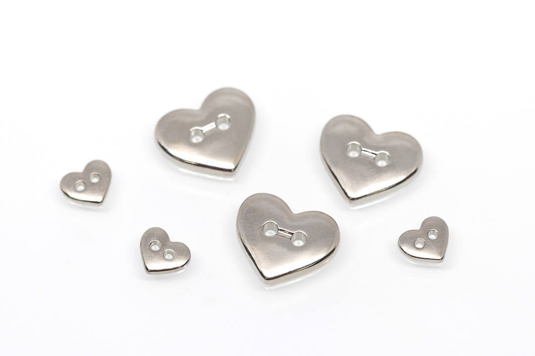heart sewing buttons