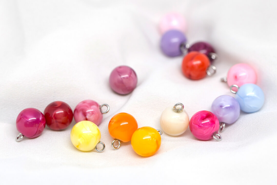 New Release! Colorful and Lovely Small Round Pearl Buttons