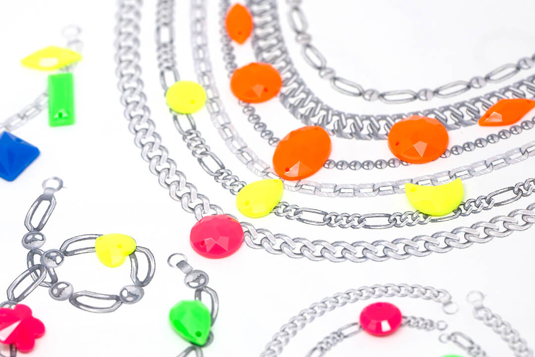 Neon is Back on Trend! Get Your Neon Rhinestone Jewelry Inspiration Here