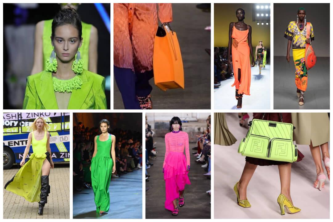 neon trend catwalk