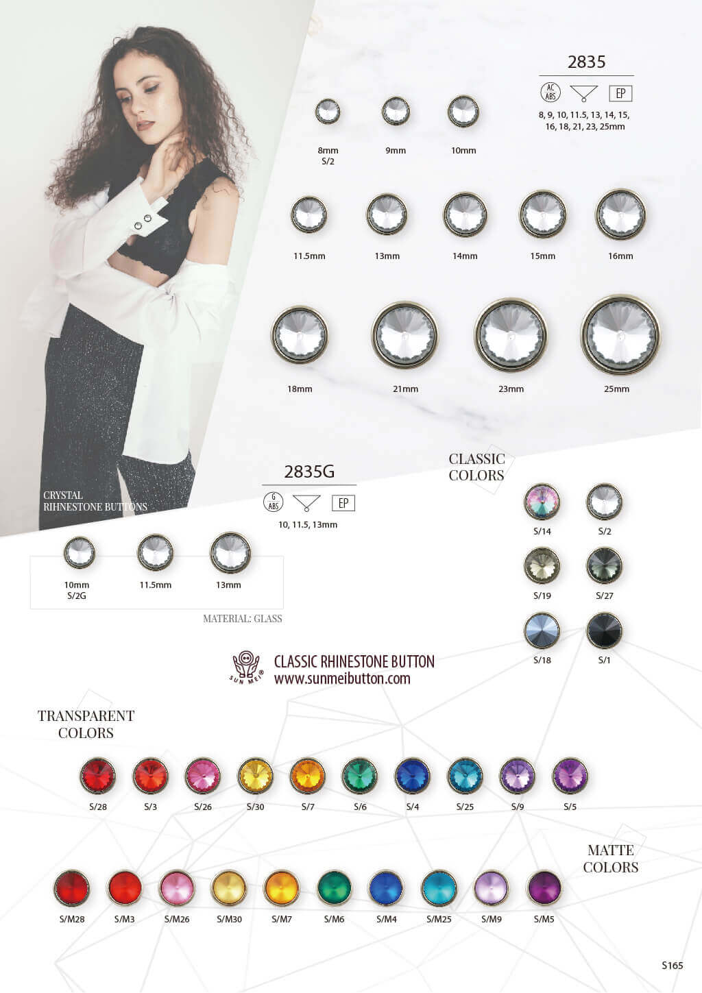 rhinestone buttons catalogue