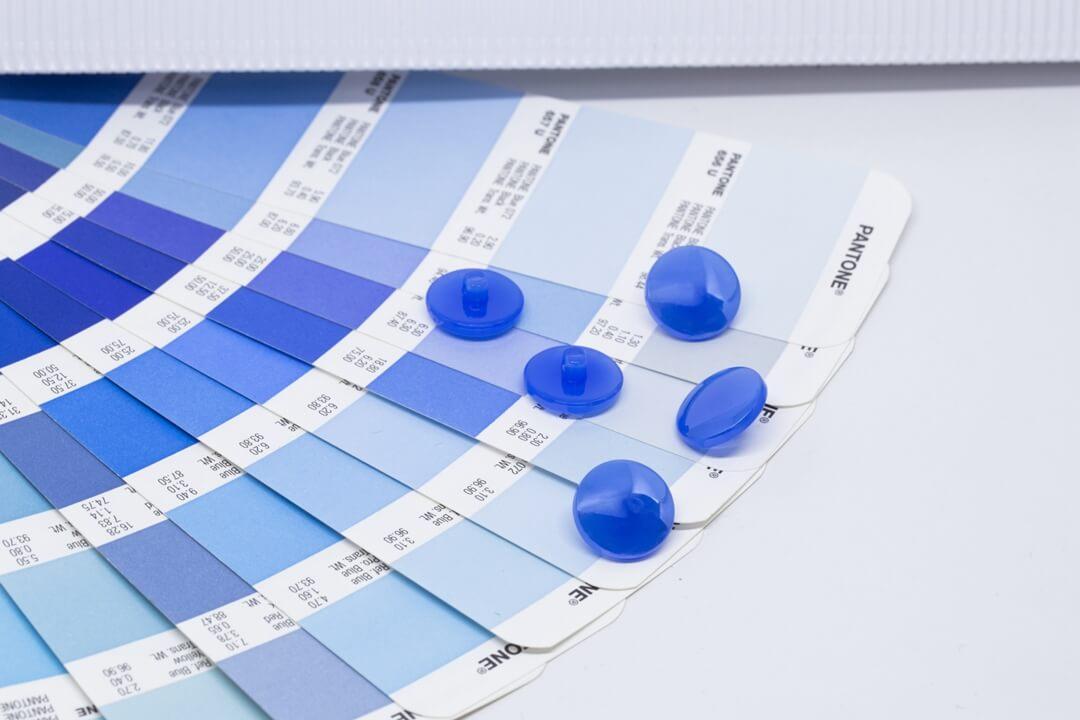 pantone 2020 classic blue buttons-opal blue