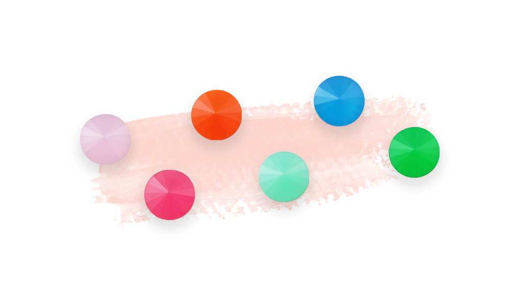 rhinestone color-opal