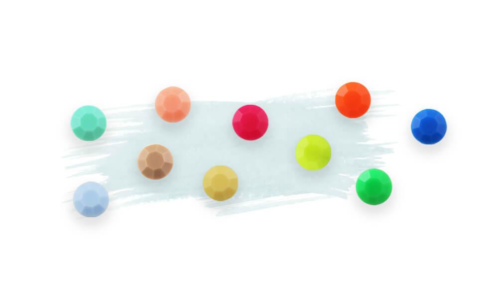 rhinestone color-opaque