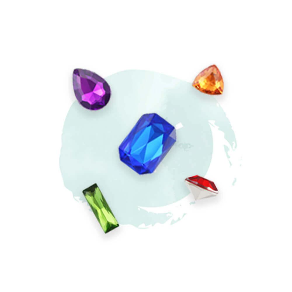 rhinestone colors-transparent color