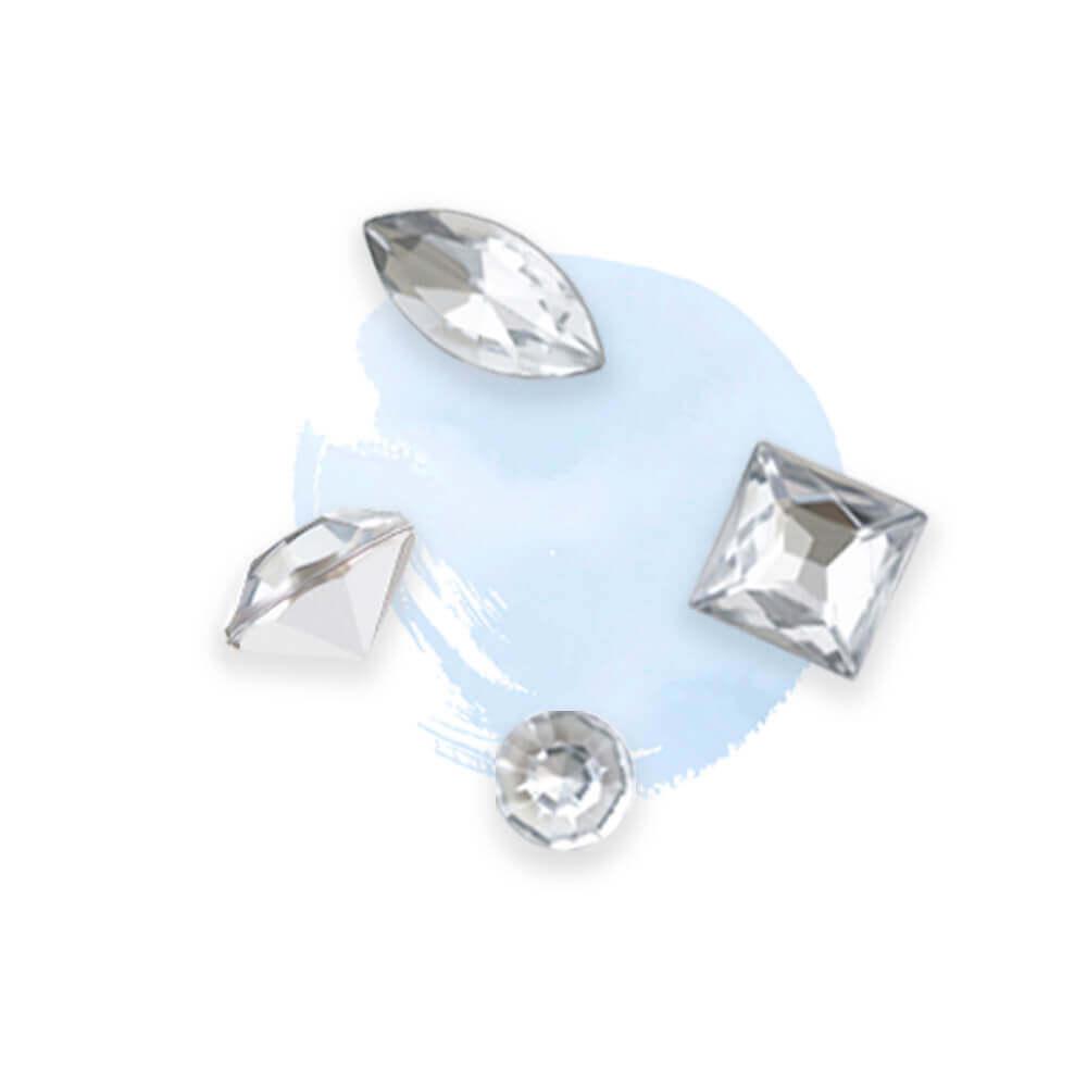 rhinestone colors-transparent white