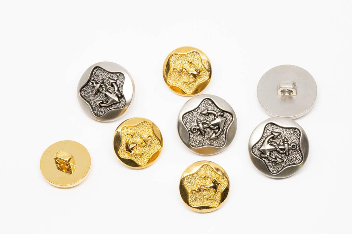 shank button-1 Metal Effect Shank Buttons
